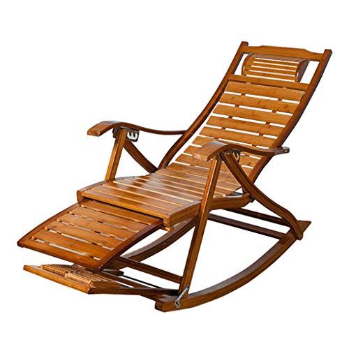 WZB Vintage Schaukelstuhl für Garten Balkon Wohnzimmer  Klappbarer Outdoor Relax-Stuhl für Erwachsene Kinder  Liegestühle Liegestühle Sonnenbad
