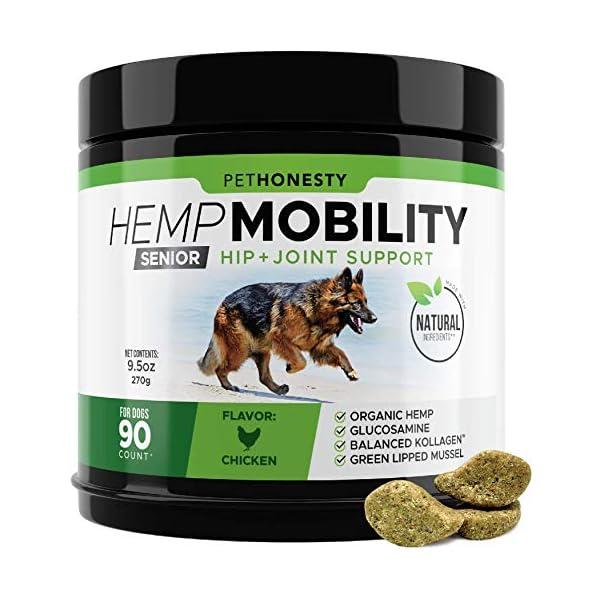 Senior Hemp Mobility – Hip & Joint Supplement for Senior Dogs –...