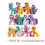 JiaHui 12 Piece Little Pony Toys Figurines Playset, Mini Figure Collection Playset, Cupcake Topper