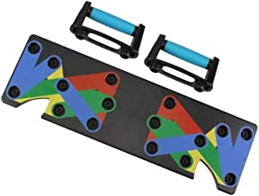 Kriva Plastic 9 in 1 Push Up Rack Board System for Body Gym Bar, 1Pc(Black)