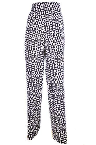 LUISA VIOLA Pantalone Elastico Vita Bianco Nero Taglie COMODE 37