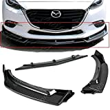 S SIZVER Signature 3PCS Carbon Fiber Print Look Front Lower Bumper Body Kit Spoiler Lip Compatible with 2014-2018 Maz da 3 Axela