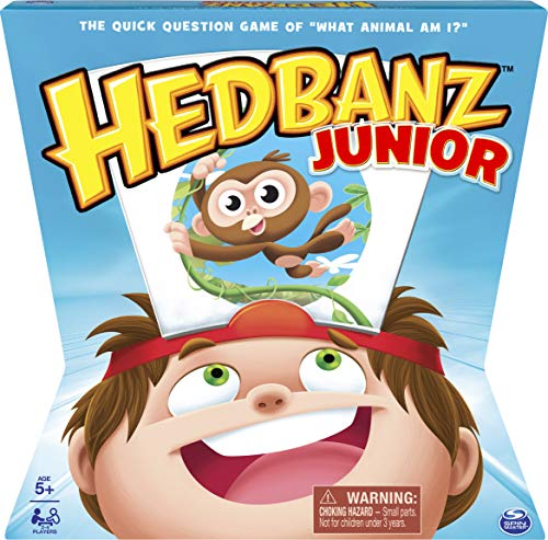 Spin Master HedBanz – HedBanz Jr. Family Board Game for Kids Age 5 and Up
