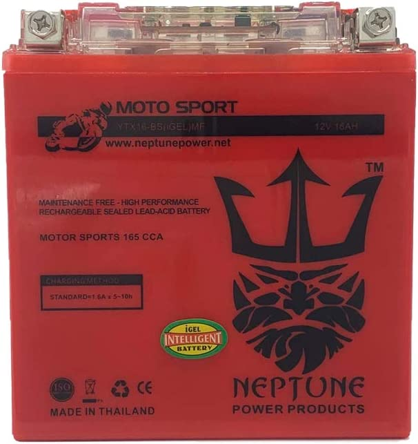 Neptune Ranking TOP1 YTX16-BS GEL Replacement Battery Yuasa Max 75% OFF for YTX YUAM32X6S