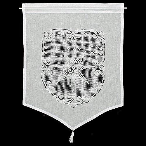 Raamdecoratie ster gordijn Hossner | 60x45 cm H/B | wit | 100% katoen