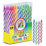 Multicolor Mini Hanukkah Candles / Birthday Candles, 44 Pack-by Ner Mitzvah