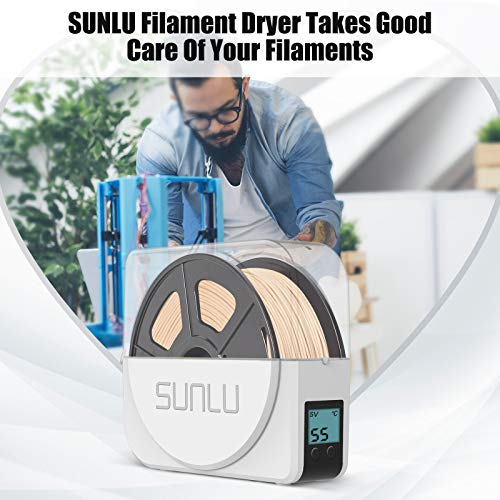 Dryer Box for 3D Printer Filament, SUNLU Filament Dryer Box Keeping Filament Dry During Printing, Filament Holder Dry Box Wide Compatibility for PLA PETG ABS Silk 3D Filament