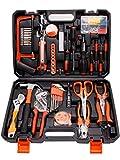 Yoken Werkzeugkoffer 102-teilig- Werkzeug-Set, Multifunktion-Werkzeugkoffer für den Für Haushalt,...