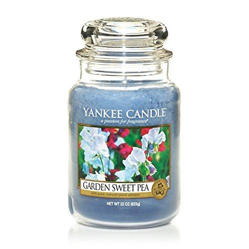 YANKEE CANDLE Classic House Warmer Gross, Garden Sweet Pea, Candela profumata, Diffusore di Profumo in Vetro/Jar, 1152860