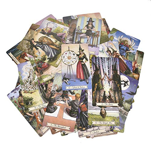 Goodtimera Tarot Karte 78 Stck Everyday Witch Tarot Brettspiel Tarotkarten Mini Tarot Deck (Englische Ausgabe)