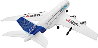 WLTOYS Remote Control Airplane, RC Airbus Aircraft, 2.4GHz 510mm Wingspan 3CH RC Airplane Fixed Wing RTF for Kids Adults Indoor Outdoor Play(A120-A380)