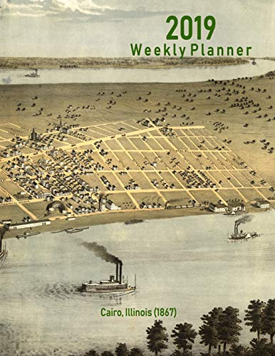 2019 Weekly Planner: Cairo, Illinois (1867): Vintage Panoramic Map Cover