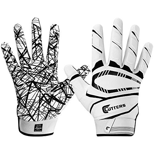 Cutters Game Day Padded Football Glove for Lineman and All-Purpose Player. Grip Football Glove. Youth & Adult Sizes. (1 Pair)