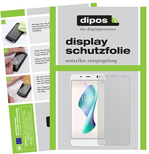 dipos I 2X Schutzfolie matt kompatibel mit BQ Aquaris VS Folie Bildschirmschutzfolie