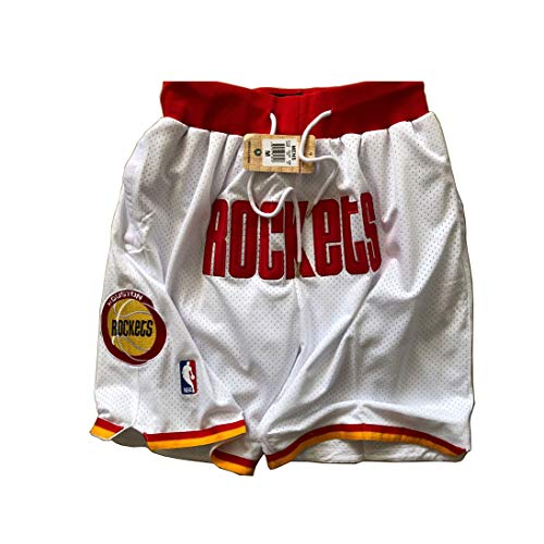 ULIIM Basketball Rockets Shorts Herren Hohe-Qualität Mesh Retro Houston Rockets Swingman Sports Shorts M-XXL