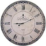 Elegante reloj de pared Shabby Cafe des Marguerites Paris, diámetro 60cm