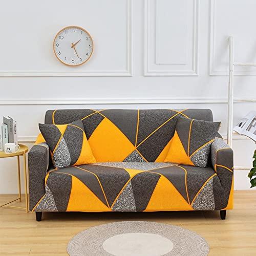 MKQB Funda de sofá de celosía geométrica, Funda de sofá elástica elástica para Sala de Estar, Funda de sofá Lavable Antideslizante con protección para Mascotas n. ° 9 L (190-230cm)