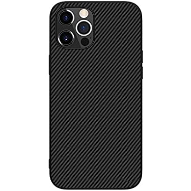 """Nillkin Case for Apple iPhone 12 Pro Max (6.7"""" Inch) Synthetic Aramid Carbon Fiber Tough Waterproof Light Weight Black Color"""