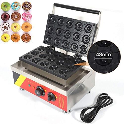 MTPLUM Doughnut Maker, Electric Donut Maker Machine Non-Stick Waffle Maker Machine 15 items diameter 48mm for Commercial Home