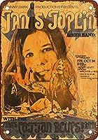 1969年ウィチタのジャニス・ジョプリンヴィンテージルック複製メタルティンサイン8X12インチ