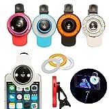 Correctores de Dedos del Pie Portátil 9 En 1 Clip-en El Teléfono Selfie Speedlite 8 LED Lámpara De La Linterna Wide Angle Luces De Relleno Ojos De Pez De La Lente ( Color : Red , Size : 6.5x4.5cm )
