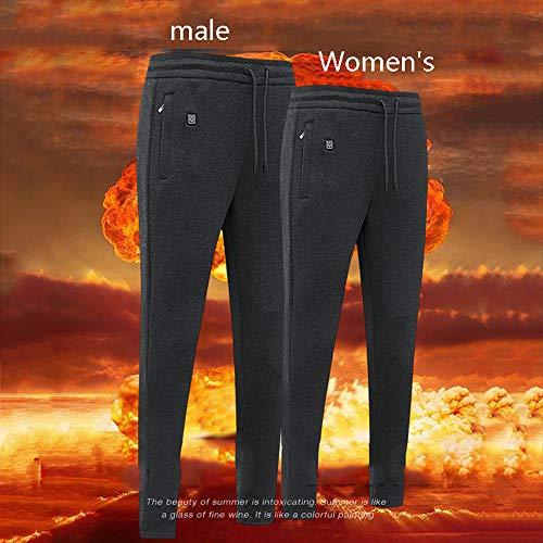 DONG Elektrisch Beheizte Warme Hose Männer Frauen USB Heizung Unterhose Isolierte Beheizte Unterwäsche Für Camping Wandern,Men's-XXXL