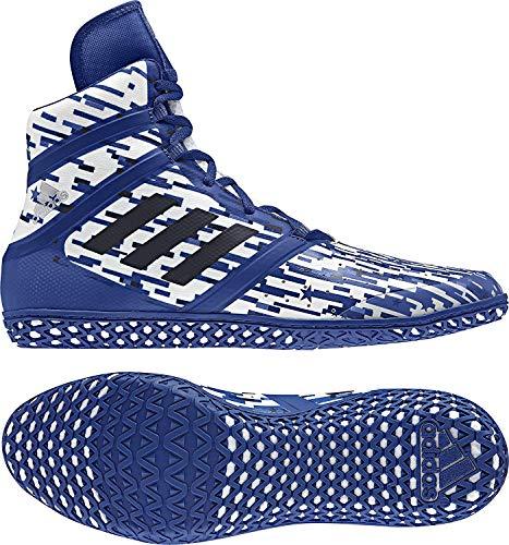 adidas Impact Men's Wrestling Shoes, Royal Digital Print, Size 5.5