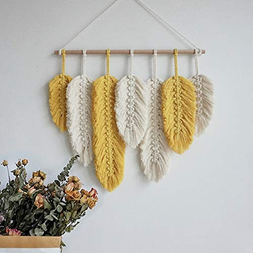 Macrame Boho Decor Tapestrytassel Hand-Woven Leaf Wall Hanging Tapestry Mandala Bedroom Decoration Mexican Home Ornaments