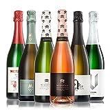 GEILE WEINE Weinpaket SEKT trocken (6 x 0.75) Probierpaket mit Rose und Weisswein Sekt von Winzern aus Deutschland und Frankreich