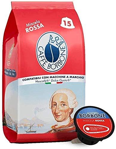 30 Capsule Caffè Borbone Miscela ROSSA Compatibili Nescafè Dolce Gusto
