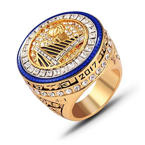 Anillos de campeonato de Golden State Warriors, 2017 Kevin Durant Champion Ring Basketball Réplica personalizada Anillos de diamante para recuerdos de hombres, tamaño 8 ~ 14 sin caja-13