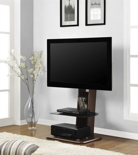 Ameriwood Home Galaxy TV Stand with Mount for TVs up to 50' Wide, Walnut