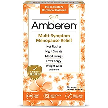 Amberen  Safe Multi-Symptom Menopause Relief Clinically Shown to Relieve 12 Menopause Symptoms  Hot Flashes Night Sweats Mood Swings Low Energy and More 1 Month Supply