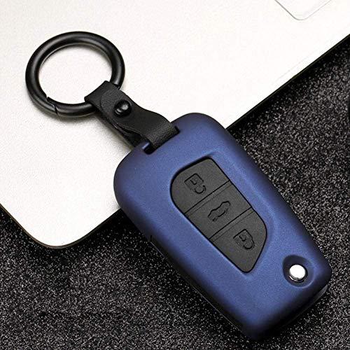 Funda para llave de coche ABS, para Toyota RAV4 REIZ Crown Levin Yaris Highlander Camry Corolla (azul)