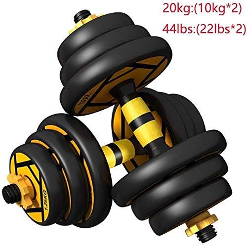 DAGCOT Pérdida Ajustable con Mancuernas Barra aparatos de Ejercicios Gimnasio Planta Soporte Inicio Equipo de Deportes con Mancuernas Peso de la Aptitud (Size : 10kg(5kg*2))