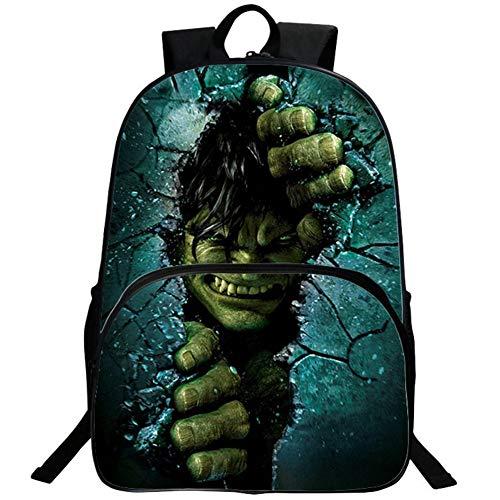UNILIFE Kinderrucksack Angry Hulk Rucksack Kraft und Muskeln Schülerrucksack für Schulreisen im Freien