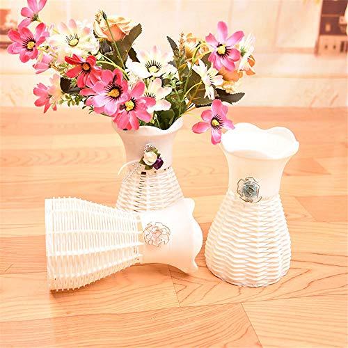 Florero Decoración del Hogar Jarrón De Mimbre Agradable Cesta Flores Metros Orquídea Flor Artificial Floreros De Jardín para El Hogar Flores Artificiales Flores Florales