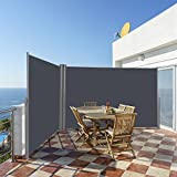 Tangkula Outdoor Patio Retractable Folding Side Screen Awning...