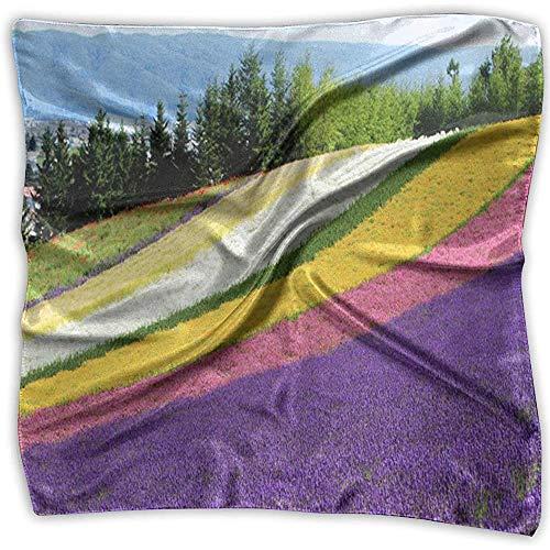 Quadratischer Schal Hokkaido Lavender Group Tour Schals Unisex Schalldämpfer Krawatte für Frauen
