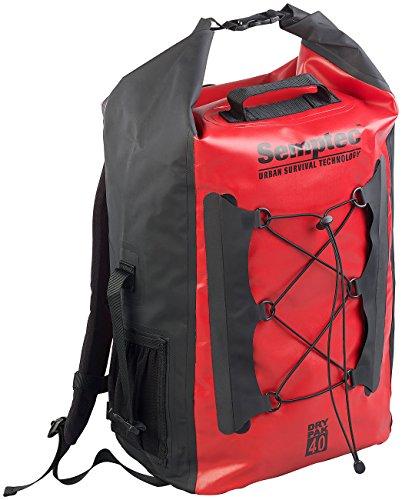 Semptec Urban Survival Technology Einkaufsrucksack: Wasserdichter Trekking-Rucksack aus LKW-Plane, 40 Liter, IPX6 (Kuriertasche)