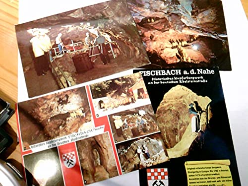 Fischbach a. d. Nahe. Historisches Kupferbergwerk. Konvolut 4 x Alte Ansichtskarte / Postkarte farbig, 1975 u. 1982. Mit Briefmarken, gestempelt u. Anschrift, ansonsten unbeschrieben. Versch. Einb ...