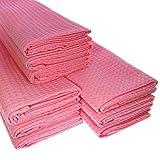 Damilo 9X Geschirrtuch aus 100prozent Baumwolle Waffel-Piqué in rosa Küchentuch Putztuch Set
