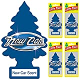 LITTLE TREES Car Air Freshener | Hanging Tree Provides Long Lasting Scent for Auto or Home | New Car Scent, 6-packs (4...