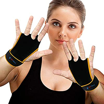 Amazon - Save 15%: FITTEXX Workout Hand Grips Weightlifting Gloves for Men and Women Cros…