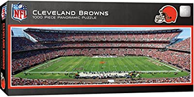 MasterPieces NFL Cleveland Browns Stadium Panoramic Jigsaw Puzzle, 1000 Pieces