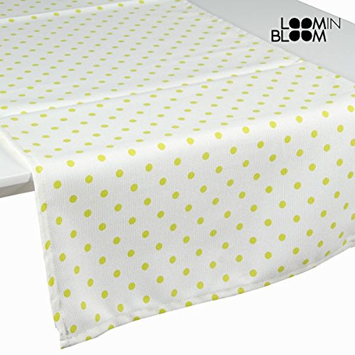 Tenda a pannello a pois nature verde - Little Gala Collezione by Loomin Bloom (1000025110)