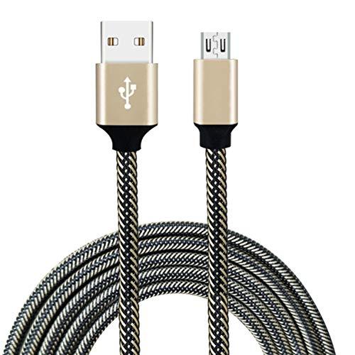 Morninganswer Cable de Carga Micro Trenzado de Nylon del Cargador de la sincronización de Datos del USB de la Cuerda de Carga rápida