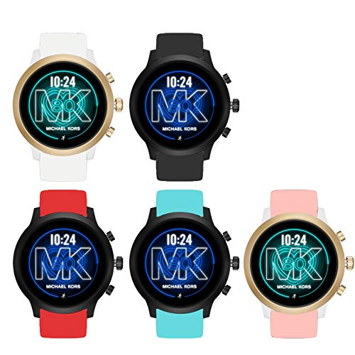 Compatible for Michael Kors MKGO Bands, Blueshaw Sport Silicone Replacement Strap for Compatible for Michael Kors Access MKGO Smartwatch (5 Pack)