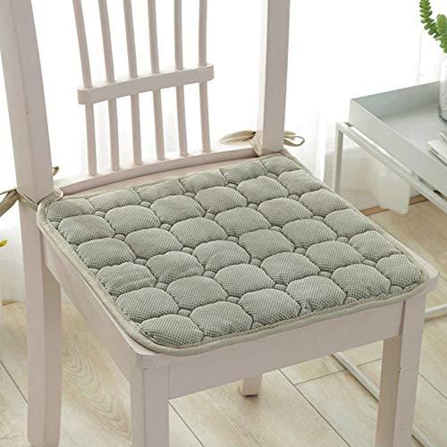 TJQTJQ Cojín Inicio de la colección, de Espuma de Memoria para sillas de ratón, Silla de Comedor Pads Cojines de los Asientos para Sillas de Cocina 39 x 39 CM 6 Pack,B
