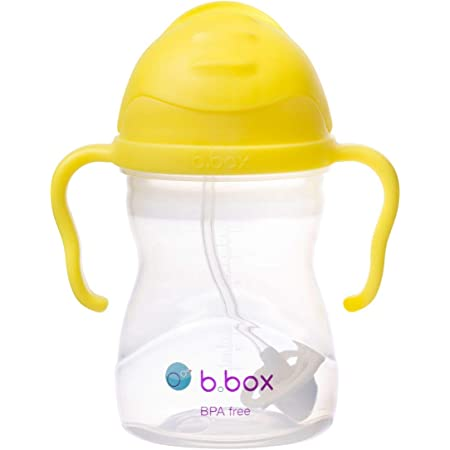 [b.box] Sippycup シッピーカップ 漏れない どんな角度からでも飲めるストローマグ おもり付き [ 6ヶ月から ベビーカップ 赤ちゃん用コップ 贈り物 ギフト ] トレーニングマグ トレーニングカップ PVC・BPAフリー 食洗器対応【正規品】 [ビーボックス] レモン sippycup lemon
